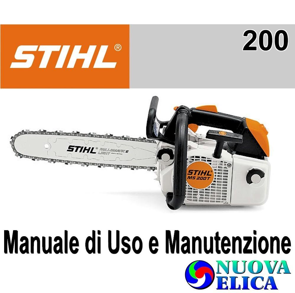 Manuale Utente Motosega MS200 - Emporio Nuova Elica 1ab11637af93