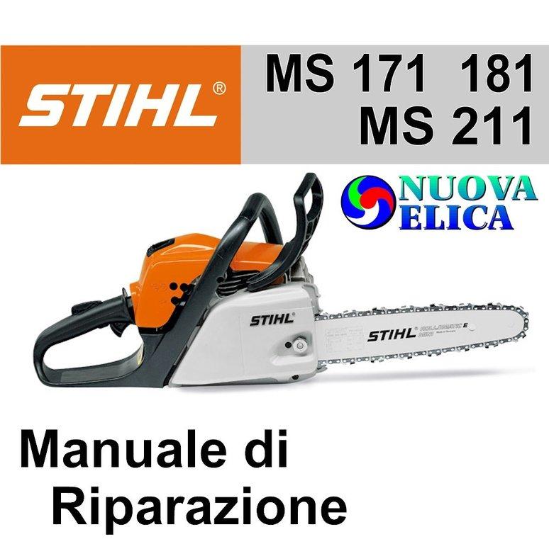 Manuale di riparazione motosega stihl ms 171 ms 181 ms 211 ne for Stihl motosega