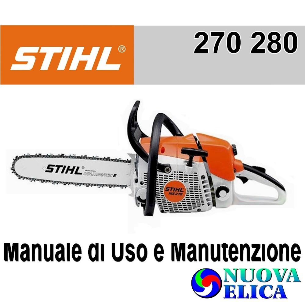 Manuale Utente Motosega StihlCMS 270 280 - Emporio Nuova Elica 6ad52f23cc3f