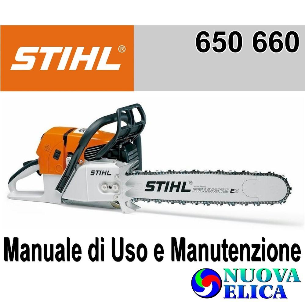 Manuale Utente Motosega Stihl MS 650 660 - Emporio Nuova Elica 7a9c1a472aa4