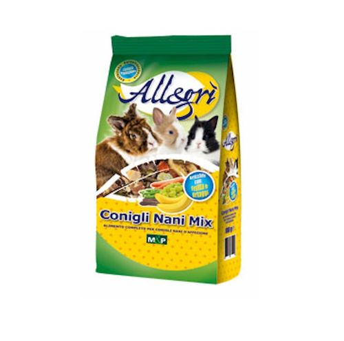 Mangime Conigli Nani Mix 800 g Allegrì