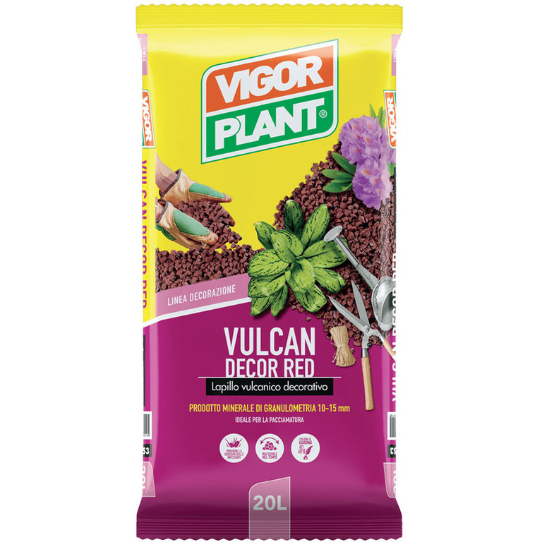 Vigorplant Lapillo Vulcanico Decorativo Red 35 L